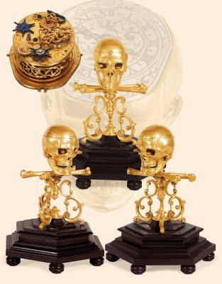 Skull+automaton+clock