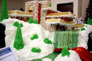 Gingerbreadhousewaterfall